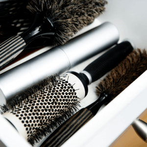 assorted-hair-brushes-in-drawer