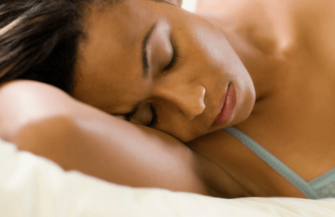 woman-sleeping-laying-on-side-closeup