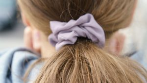 close-up-of-scrunchie-on-blonde-hair